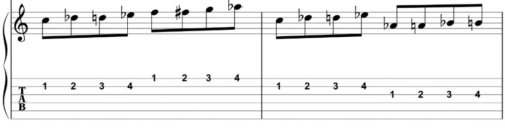 4 note per string 2