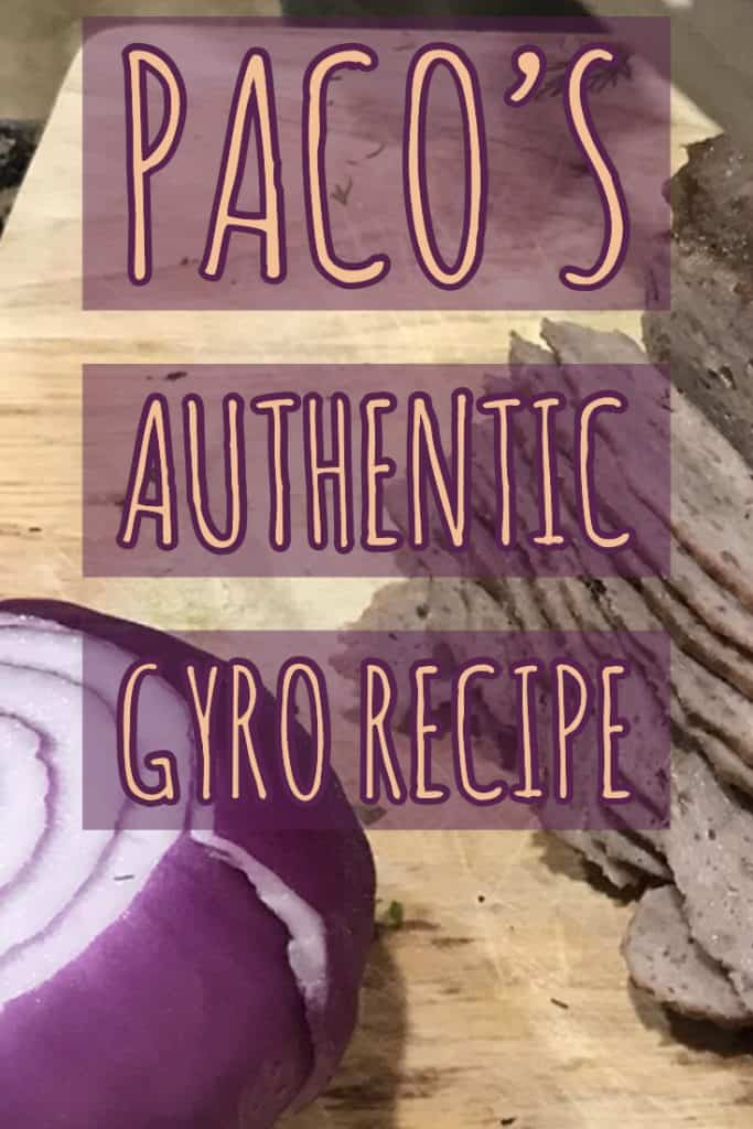 Authentic Gyro Recipe