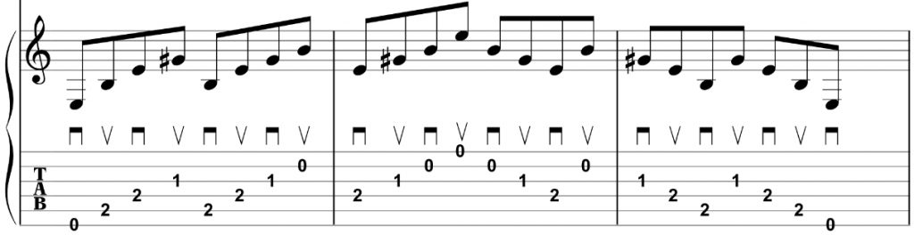 E Major Picking Exercise