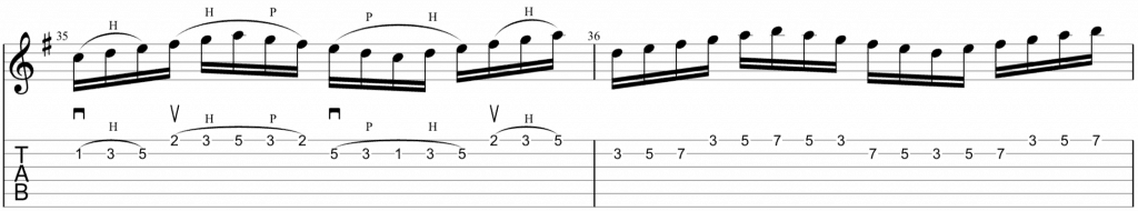 legato guitar sequence