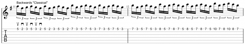 backwards classical double triplets