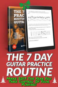 Ever wonder how the Pro Guitarists do it? ...by practicing the RIGHT STUFF. The 7 Day Practice Routine For Guitarists contains over 90 pages of chords, scales, arpeggios and music theory organized in a comprehensive guitar practice routine.