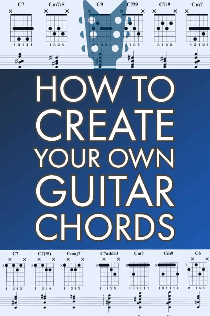 Guitar Chords 101. Everything you need to know to understand how guitar chords are created and how to build your own guitar chords from scratch all over the neck. Includes all of the music theory, diagrams and TAB to get started.
