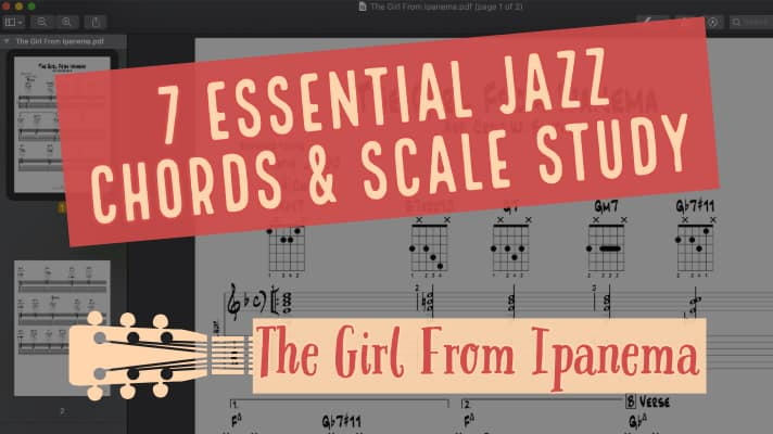 7 Essential Jazz Guitar Chords And Scale Study The Girl