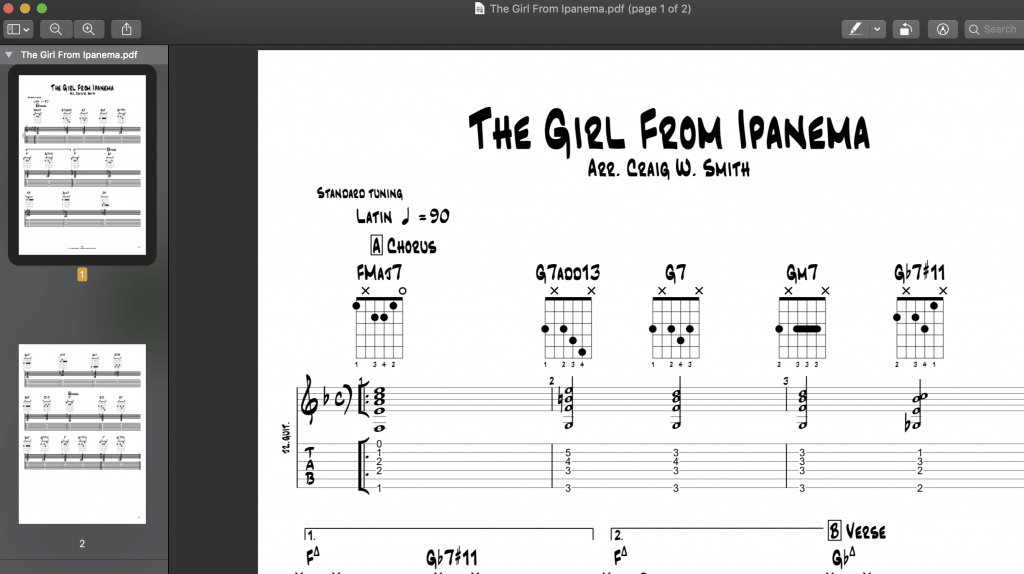 7 Essential Jazz Guitar Chords and Scale Study – The Girl