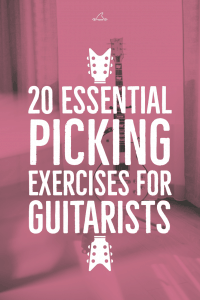 20 essential picking exercises for guitarists. Includes TAB and Free PDF eBook download.