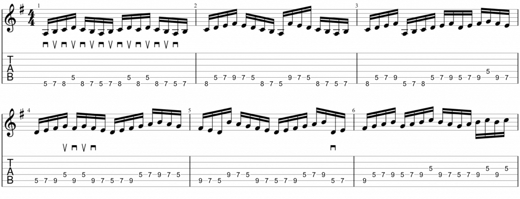 A dorian picking exercise 1