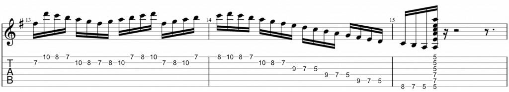 A dorian picking exercise 3