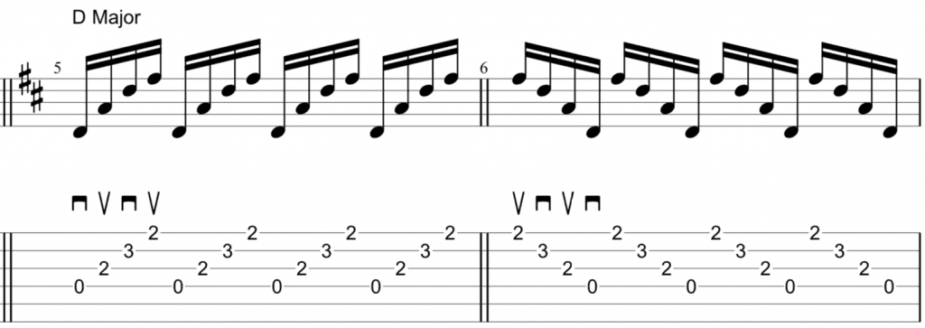 alternate picking 4 string chords