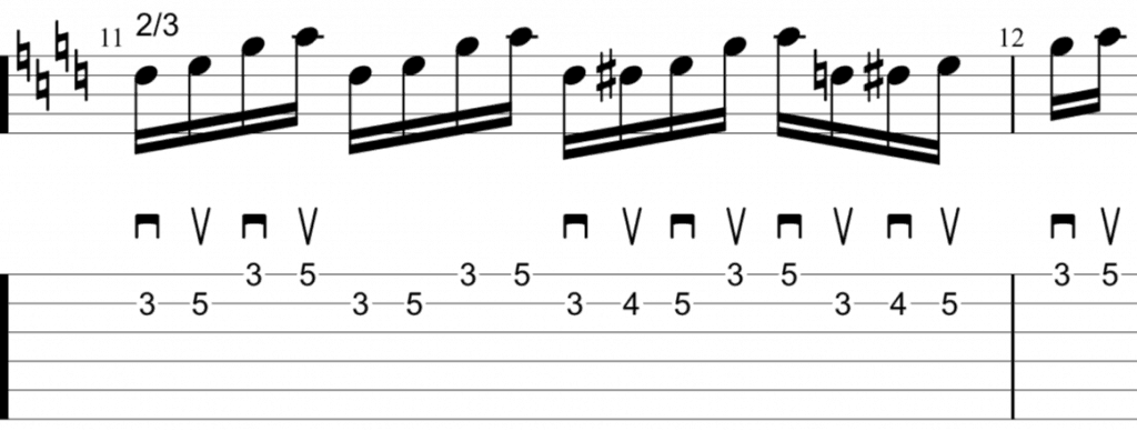 alternate picking scales 2-3