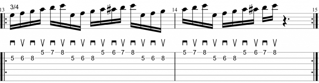alternate picking scales 3-4