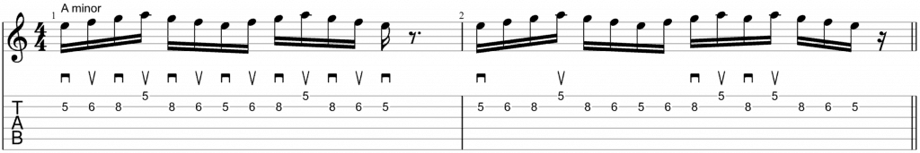 alternate picking scales am