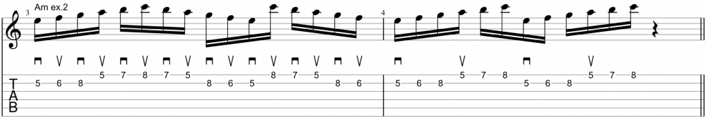 alternate picking scales am 2