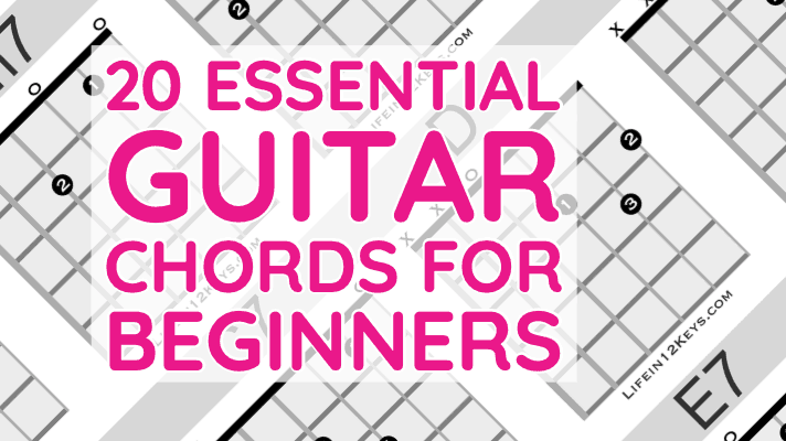 20 Essential Guitar Chords For Beginners Life In 12 Keys