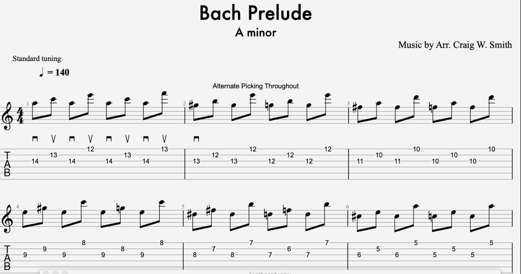 Bach Prelude Picking Etude