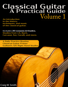 Classical Guitar Method book
