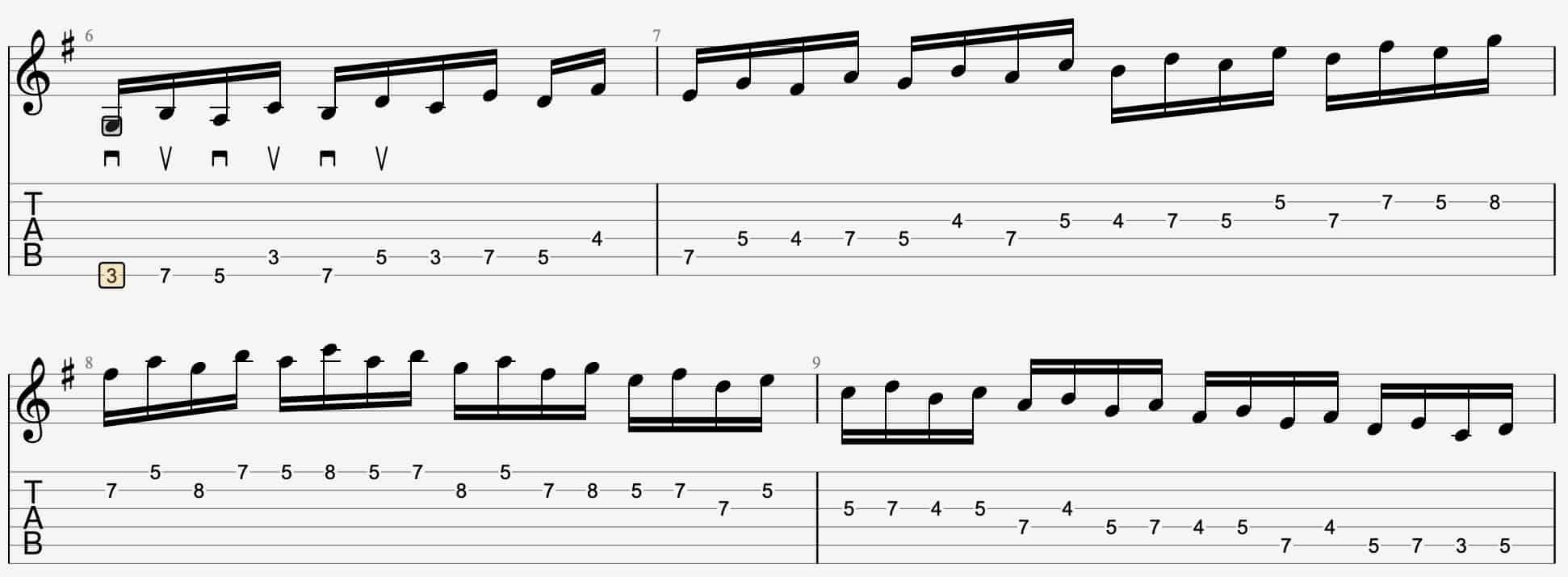 Alternate Picking in 3rds