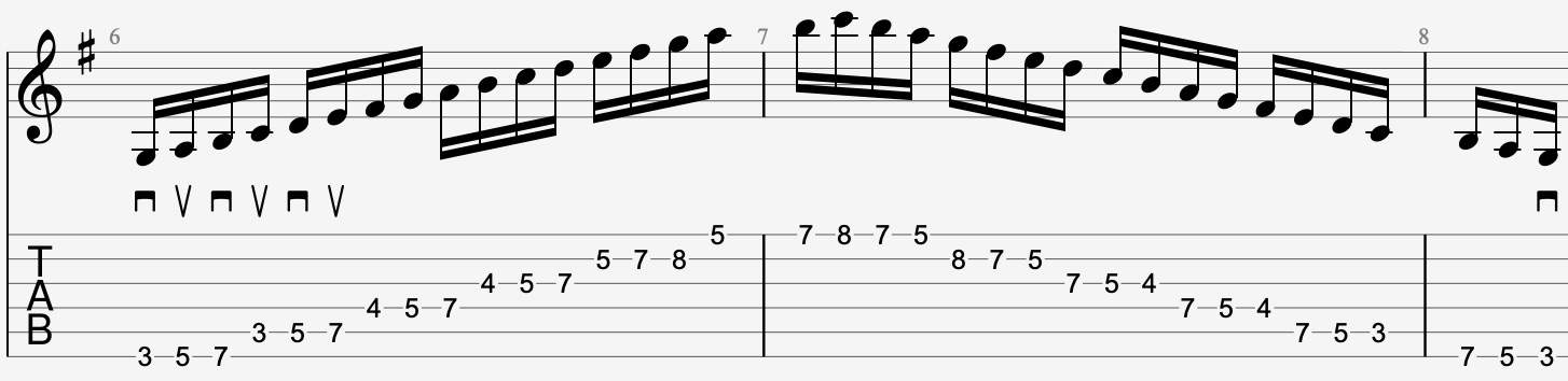 Straight alternate picking